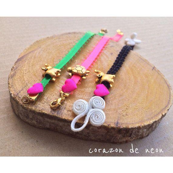 Charm bracelets by corazondeneon on Etsy, $6.00