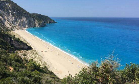 Agios Nikitas beach, Lefkada island, Ionian Sea, Greece