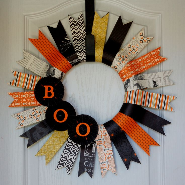 halloween craft idea boo wreaths craft and cards 2131