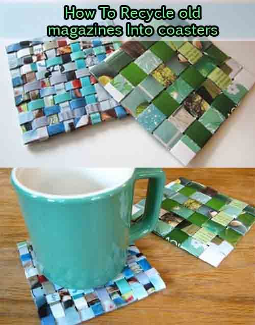 How To Recycle old magazines Into coasters