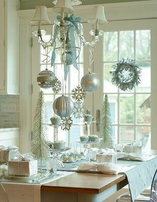 Christmas decorations in the softest teal.  |  Katie Brumley 90 on Indulgy
