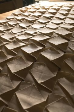 Fabric Manipulation with structured patterns & textures; folding; pleating; origami textiles design // Pietro Seminelli