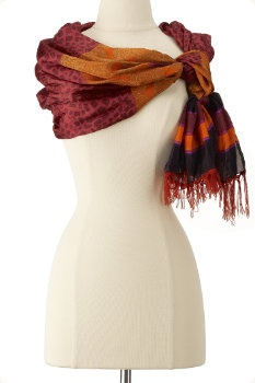 Multi-color scarf.