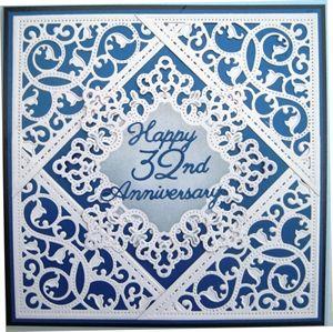 Wedding Anniversary Card by: Tinyrose. Duplicate using Tonic envelope dies