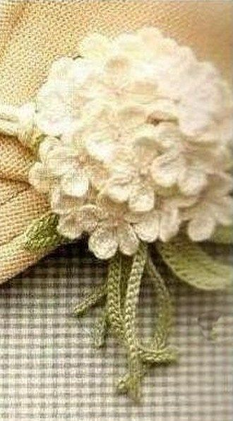 Knitting Flowers Crochet : Knitted flowers crochet white pattern