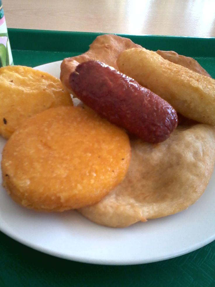 chorizo, tortila corn, wheat flour tortilla, stuffed with meat carimañola, PANAMA FOOD.