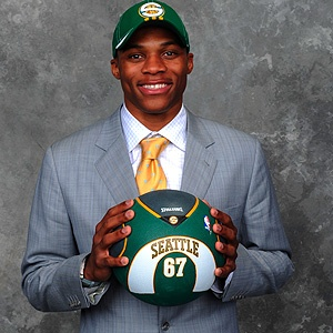 Sonics forever — Russell Westbrook, drafted by the Sonics in 2008