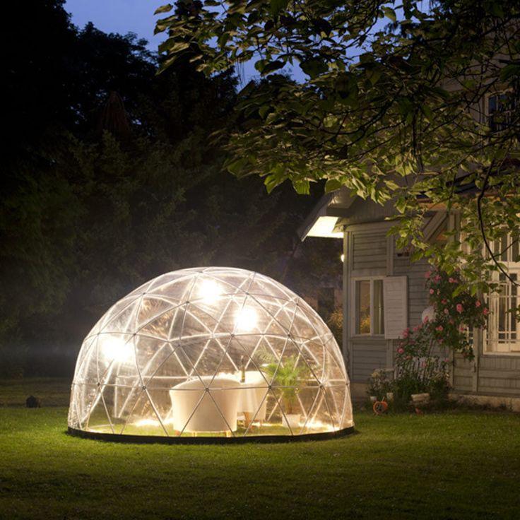 jardin d'hiver, auvent d'été, serre géodésique Garden Igloo (modèle 2015) www.lapadd.com