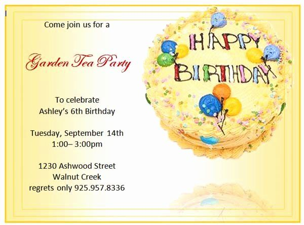 Birthday Invitation Templates Word Lovely Birthday Party Invitations Microsoft Wor Party Invite Template Birthday Invitation Templates Invitation Card Birthday