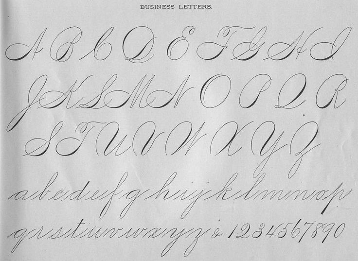 Spencerian script, this is when people could actually