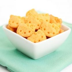 Hello Kitty cheddar cheese crackers #foodgawker