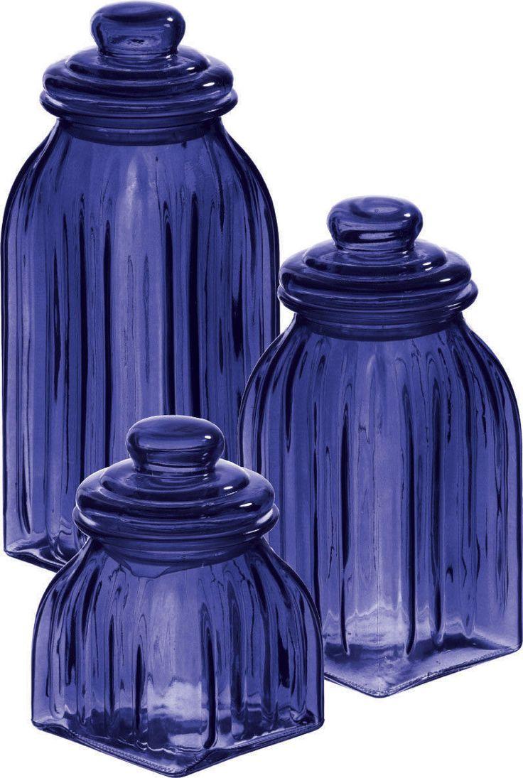blue kitchen storage jars cowboysr us