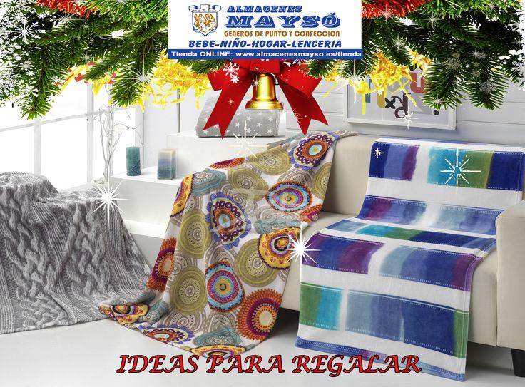 IDEAS PARA #REGALAR! Esta #Navidad os pueden sorprender con una cálida y bonita manta de coralina o borreguillo. #tiendaonline : www.almacenesmayso.es/tienda #shoponline #textilhogar #ropabebé #complementosbebé #lenceria #ropamujer #ropahombre #ropaniños #ropaniña #regalosnavidad #regalosoriginales #manta #coralina #borreguillo
