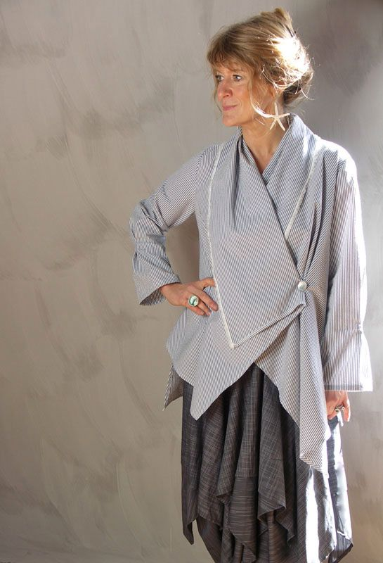 Paris Shirt in cotton £235, over Handkerchief Skirt in cotton £245.