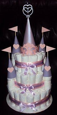 Veronica's Cricut Creations: Fairy Tale Castle Diaper Cake