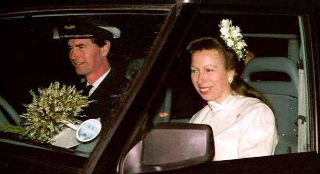 Princess Anne and Timothy Laurence  The Bride is the only daughter of Queen Elizabeth II. It was the princess' 2nd marriage.  The Groom: Timothy Laurence, a British naval officer.  When: Dec. 12, 1992.  Where: In the Church of Scotland near Balmoral. The Church of Scotland allows remarriage.