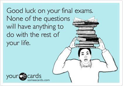 May the odds be ever in people having to take finals this week favor<< What I do instead of studying...