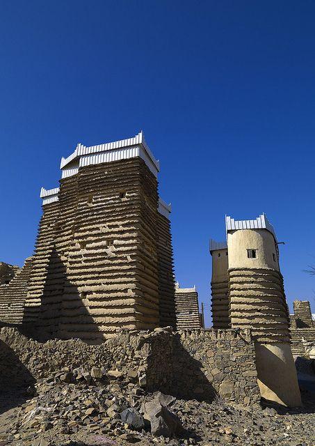 Old village in Asir area - Saudi arabia    Sarat Habidah village  Eric Lafforgue