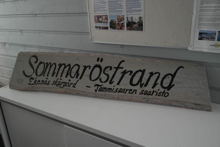Sommatöstrand - nimikyltti #visitsouthcoastfinland #sommaröstrand #tammisaari #ekenäs