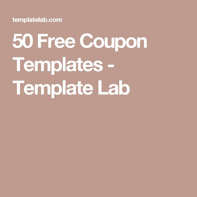 The 25+ best Free coupon template ideas on Pinterest Free prints - coupon templates free
