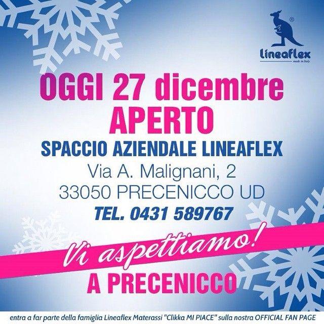 lineaflex_official's photo on Instagram #buongiorno Il Natale è passato ed eccoci di nuovo qui :) Vi aspettiamo a #precenicco.. 9.00-12.30 / 15.00-19.00 #lineaflex #materassi #made #in #italy