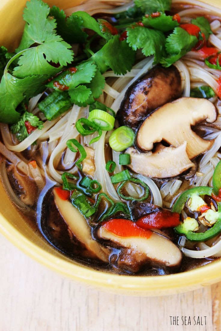 Vegetarian Pho (It says it is vegetarian but it has fish sauce in it, so would need to omit this)