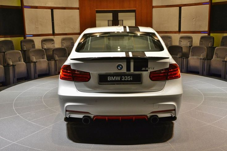 MW Abu Dhabi dealerships shows a BMW F30 3 Series with BMW M performance parts and a tuning chip The look of this F30 335i is quite unique from all the M Performance Parts cars we have seen before.
