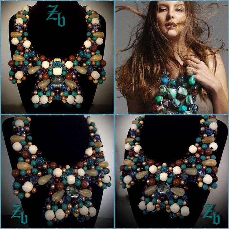 Maxi statement necklace... Z'ett bijou handmade necklace...