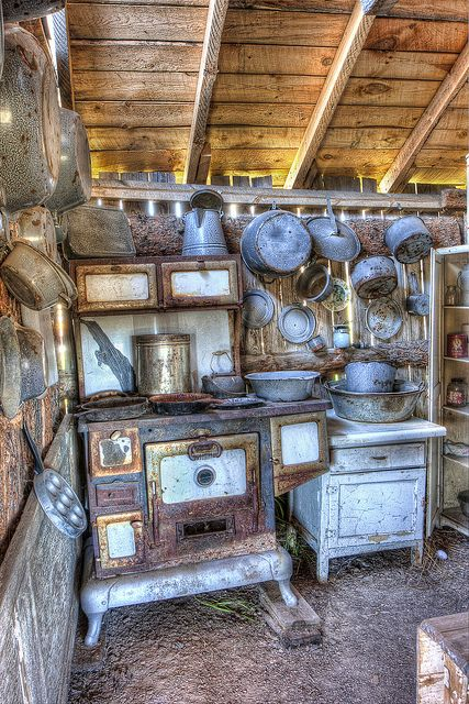 Kitchen in Four Mile Old West Town by Photomatt28, via Flickr