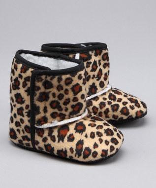 Leopard infant booties!