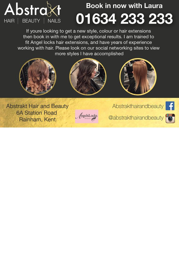 Small flyer for a local hairdressers