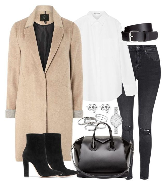 """""""Untitled #2935"""" by theeuropeancloset ❤ liked on Polyvore featuring Topshop, Acne Studios, mel, Givenchy, Kate Spade, H&M, Gianvito Rossi and Kendra Scott"""