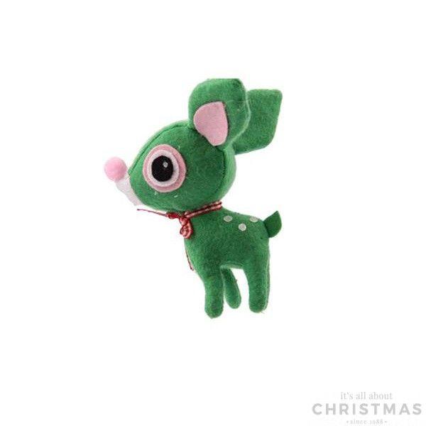Funny reindeer - Lime green