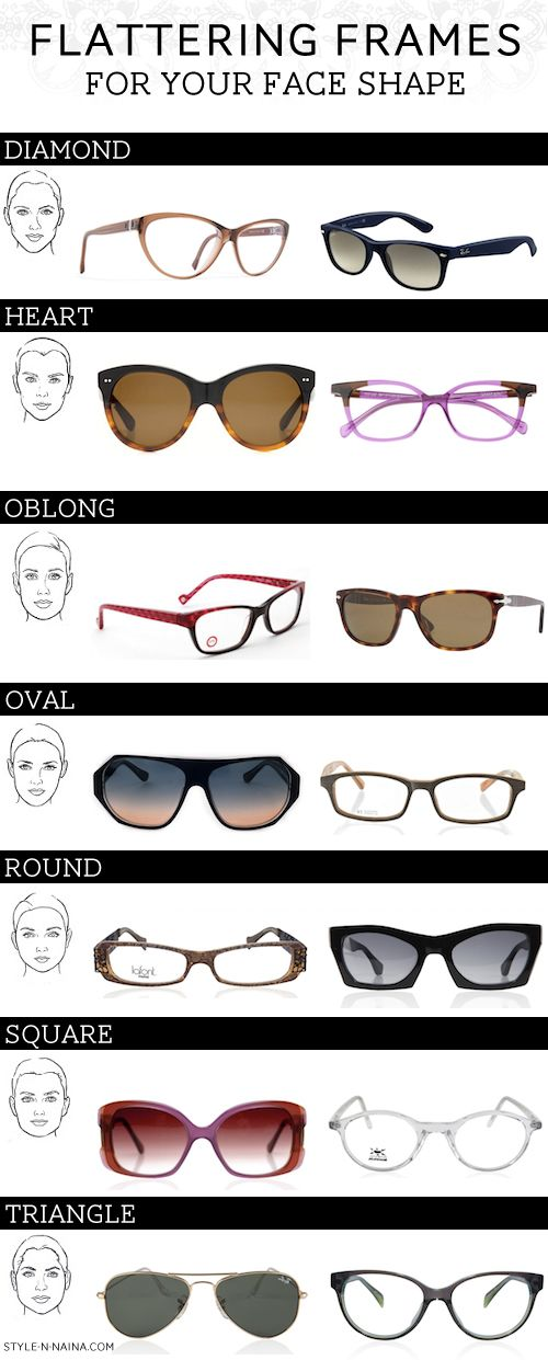 Flattering Glasses Frames For Round Faces : 149 best images about Choosing Perfect Eyeglasses on ...