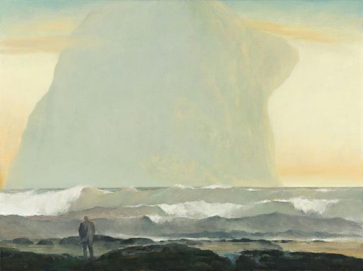 blastedheath:  Rick Amor (Australian, b. 1948), Visitor by the Southern Seas, 2000. Oil on linen.