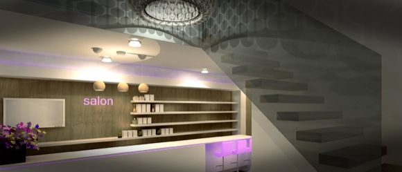 Interieurontwerp beautysalon Sandra Michorius