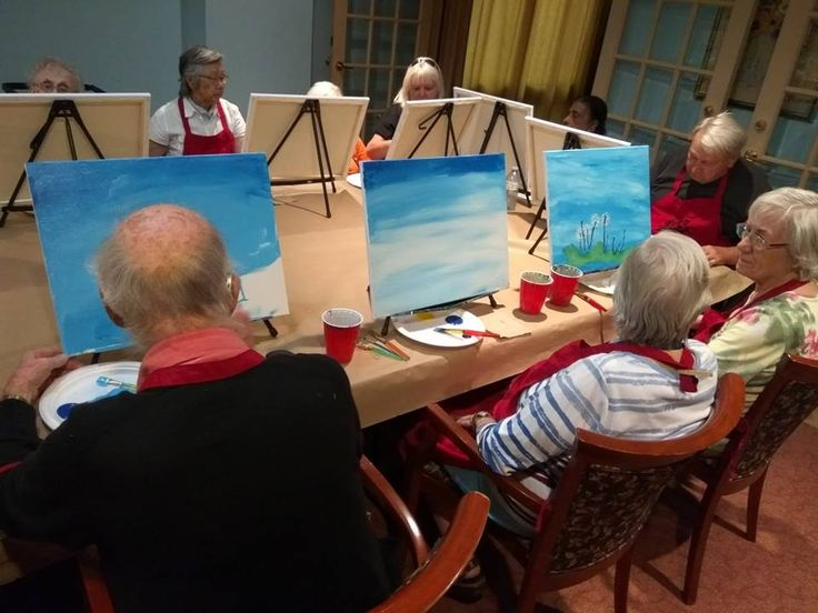 Paint Party at McCowan Retirement Community - Toronto Ontario