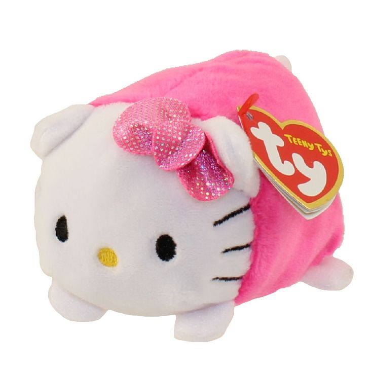 TY Beanie Boos - Teeny Tys Stackable Plush - HELLO KITTY (Pink) (4 inch)
