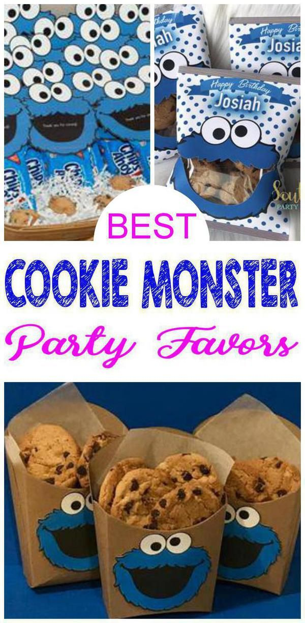 Party Favors Best Cookie Monster Party Favors Everyone Will Love Coolest Party Cookie Monster Birthday Party Cookie Monster Party Cookie Monster Party Favors