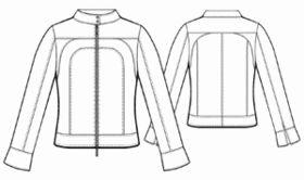 example - #5489 Denim jacket with shaped yoke