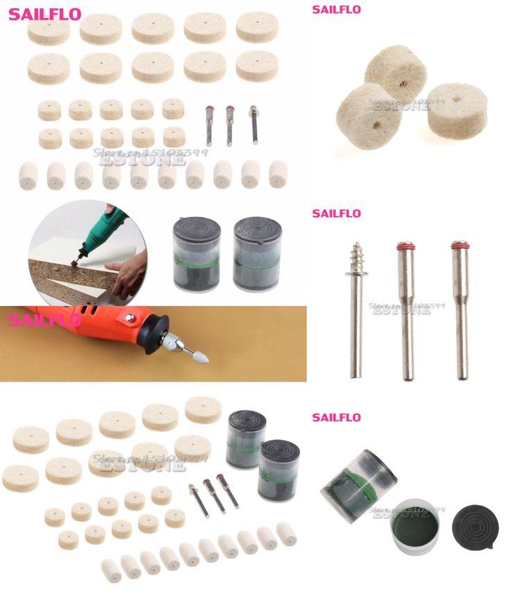 "[Visit to Buy] 35Pcs Soft Felt Polishing Buffing Burr Wheel Kit For Dremel Rotary Tools 1/8"" #G205M# Best Quality #Advertisement"