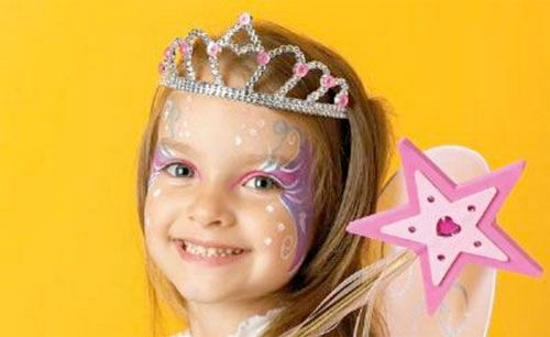 Trucco di Halloween per bambini da principessa