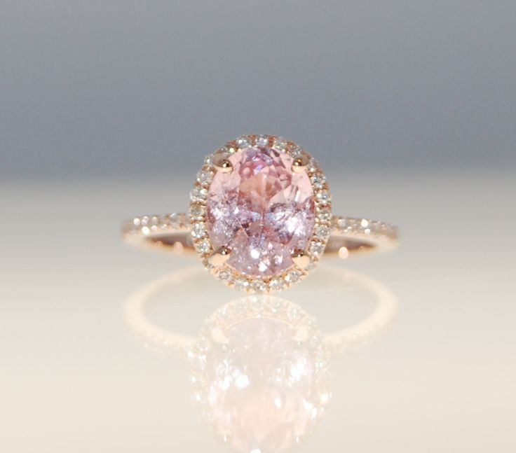 On Hold Till March 4 SALE 238ct Oval Blush Peach
