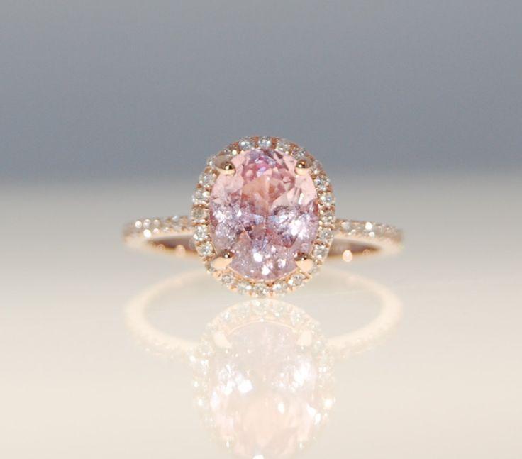 SALE  2.38ct Oval Blush peach champagne sapphire by EidelPrecious, $1,950.00
