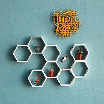Look what I found at UncommonGoods: honeycomb decorative accent shelf... for $124 #uncommongoods