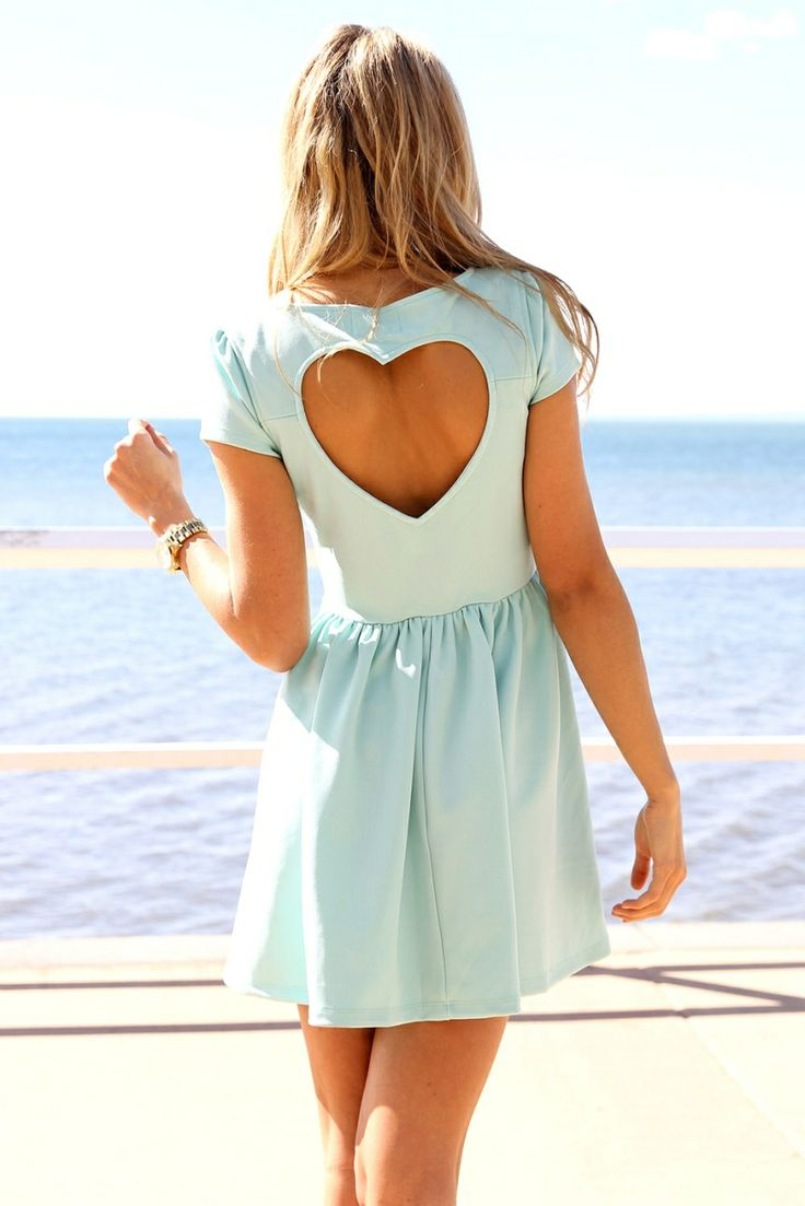 SABO SKIRT  Mint Heart Back Dress
