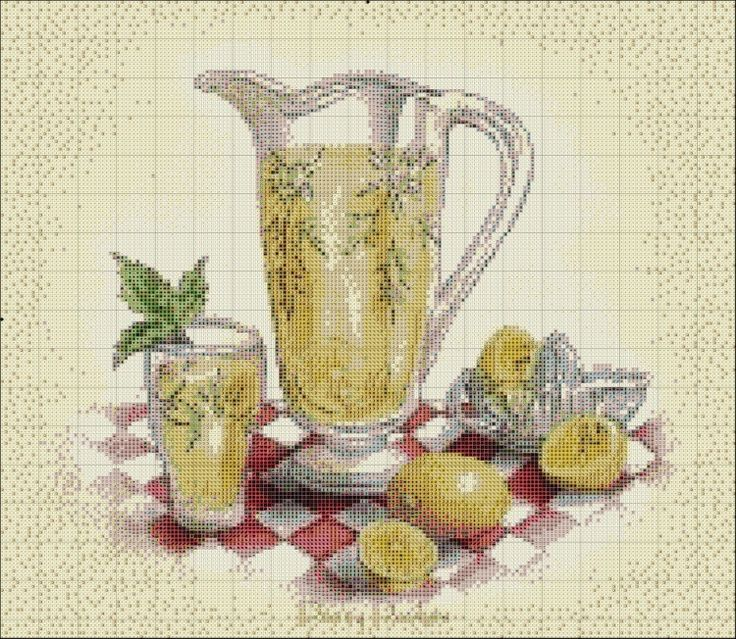 63 best cross stitch happy new year images on pinterest for Cross stitch kitchen designs