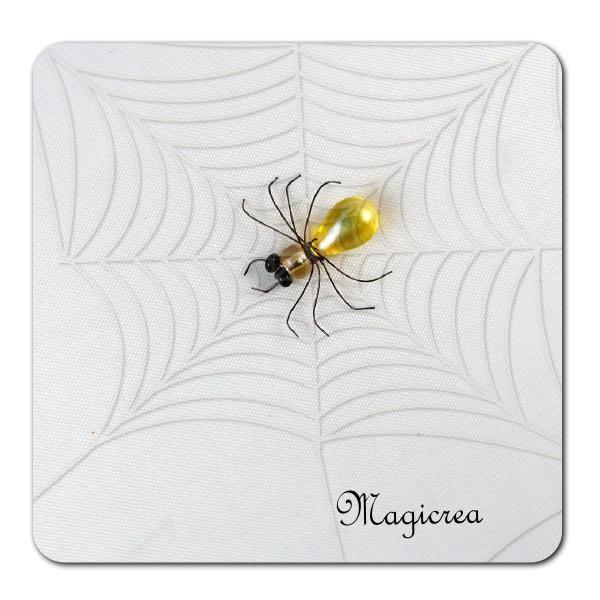 ARAIGNEE PERLES JAUNE - Boutique www.magicreation.fr
