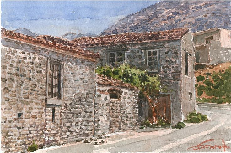 Dimitris Stathopoulos (b.1946) – watercolor on paper