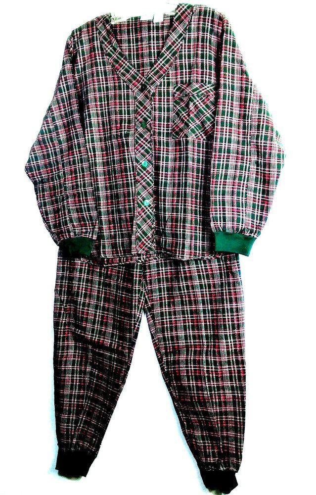 Simple Pleasures Women's Pajamas Flannel Sz S Plaid Metallic Threads Cuffed #SimplePleasures #PajamaSets #Everyday